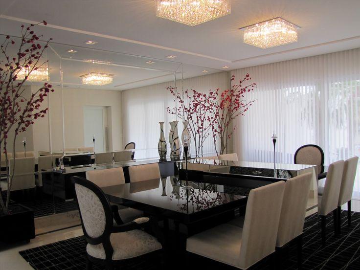Más de 1000 ideas sobre sala de jantar decorada com gesso en ...