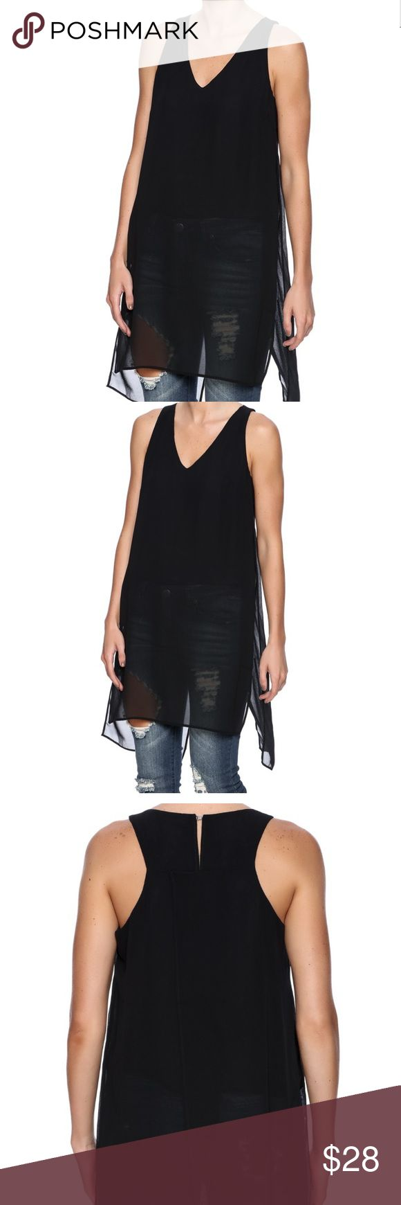 NWTs Dex Sheer Overlay Top NWTs Dex Sheer Overlay V Neck Top with Lining to the waist. Tops