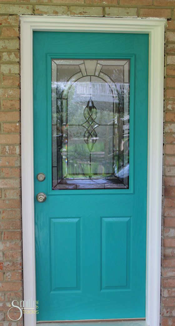 {A Smith of All Trades} Teal Front Door