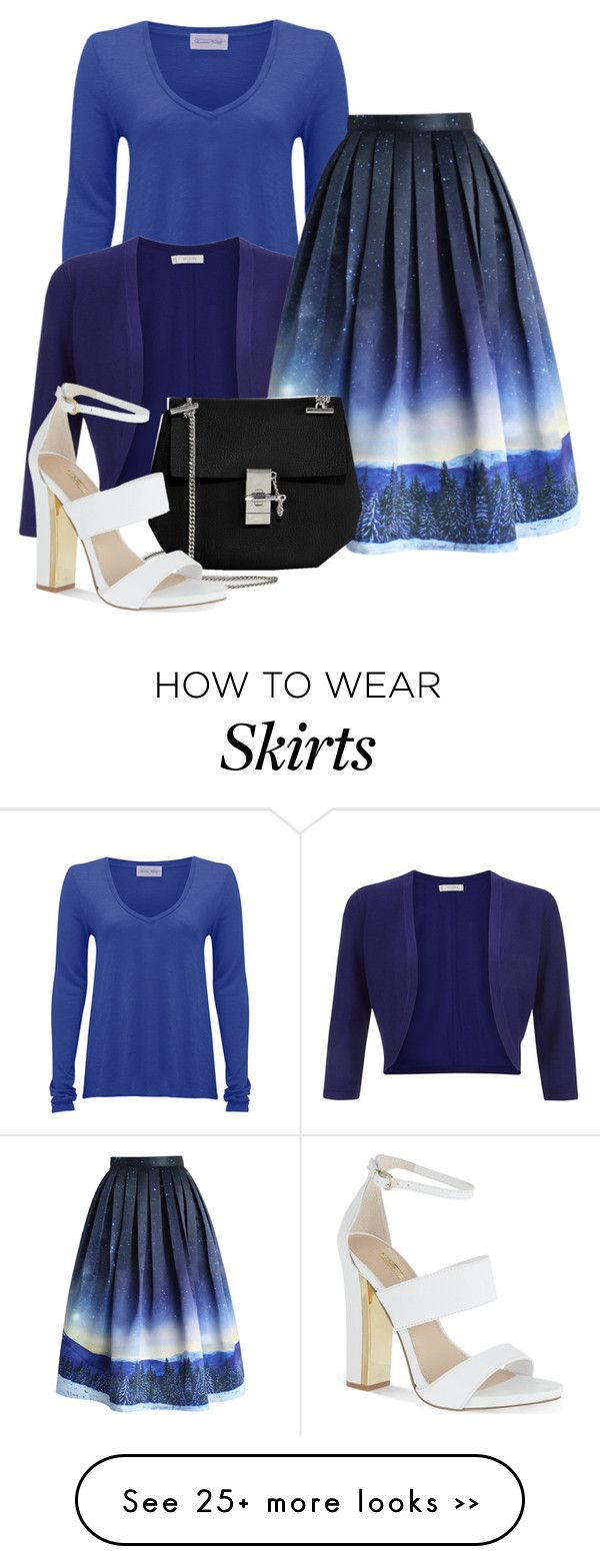 """Night Sky: Statement Skirt 2"" by gummybear178 on Polyvore"