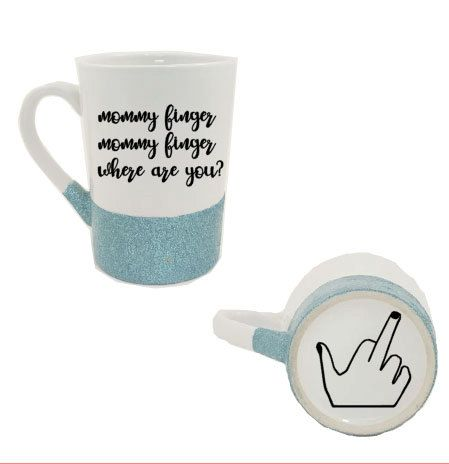 mommy finger mug - mommy finger - mommy mug - funny coffee mug - gifts for her - gifts for mom - unique mug - custom mug by LakesideDesigns1 on Etsy