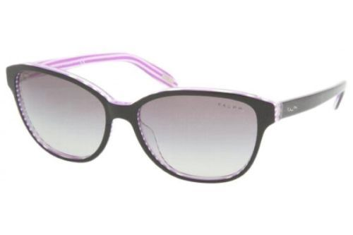 RALPH BY RALPH LAUREN RA5128 SUNGLASSES 960/11 Black-Purple / Grey Gradient 55MM