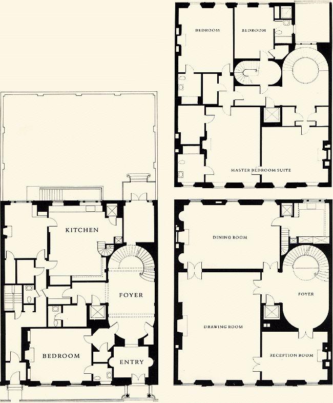 New York Townhouse Floor Plans Mark Alan Hewitt After