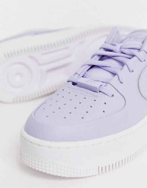 Nike Lilac Air Force 1 Sage Trainers