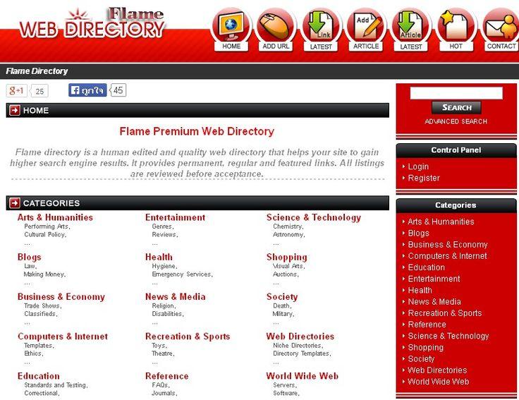 Flame Premium Web Directory http://www.flameu.com/