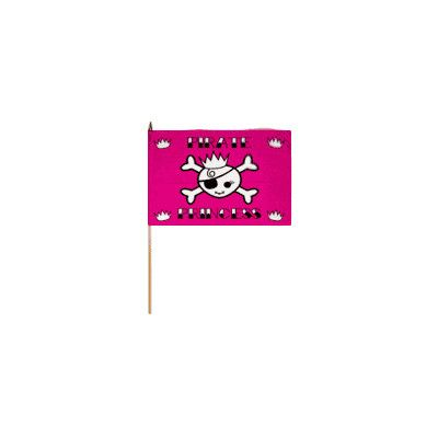 FlagsImporter Pirate Princess Traditional Flag and Flagpole Set