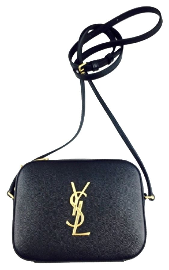 Saint Laurent Gold Monogram Camera Black Cross Body Bag. Get the trendiest Cross Body Bag of the season! The Saint Laurent Gold Monogram Camera Black Cross Body Bag is a top 10 member favorite on Tradesy. Save on yours before they are sold out! 770