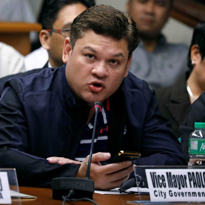 Rodrigo Duterte's son grilled at Senate inquiry over allegations of ties to drug trade