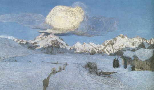 Trittico della natura - La morte, 1898, Carboncino e matita dura su carta, Winterthur, Stiftung fuer Kunst, Kultur und Geschichte