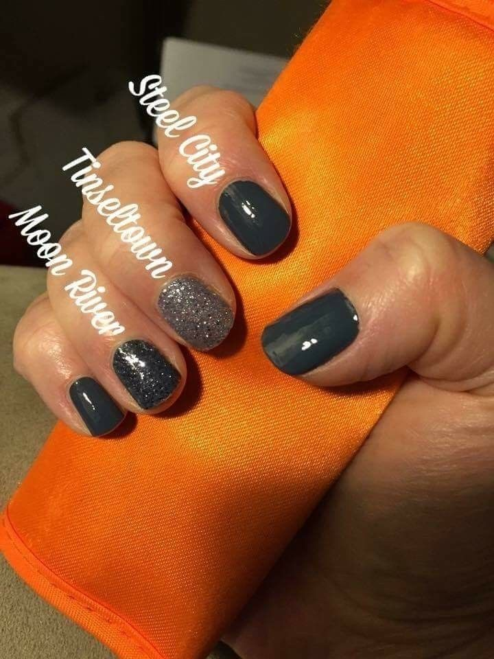 Color Street Nail Polish Strips Steel City Tinseltown Moon River In 2019 Color Street Color