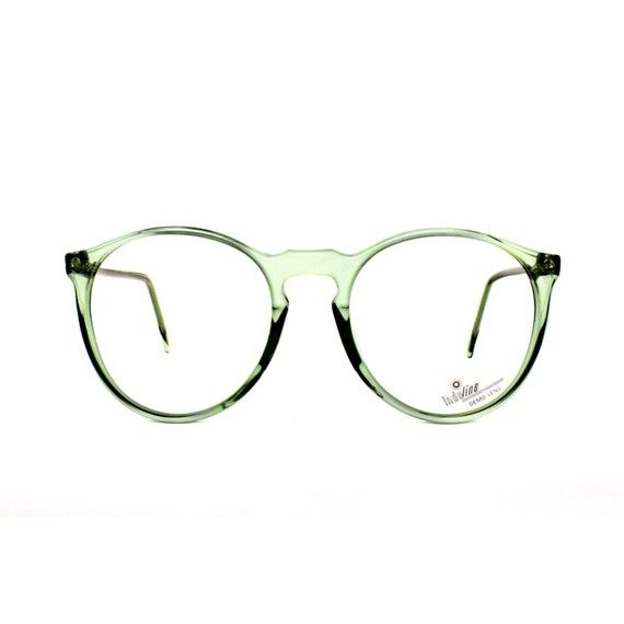 Jade Green transparent Round Vintage Eyeglasses by MODvintageshop, $29.00