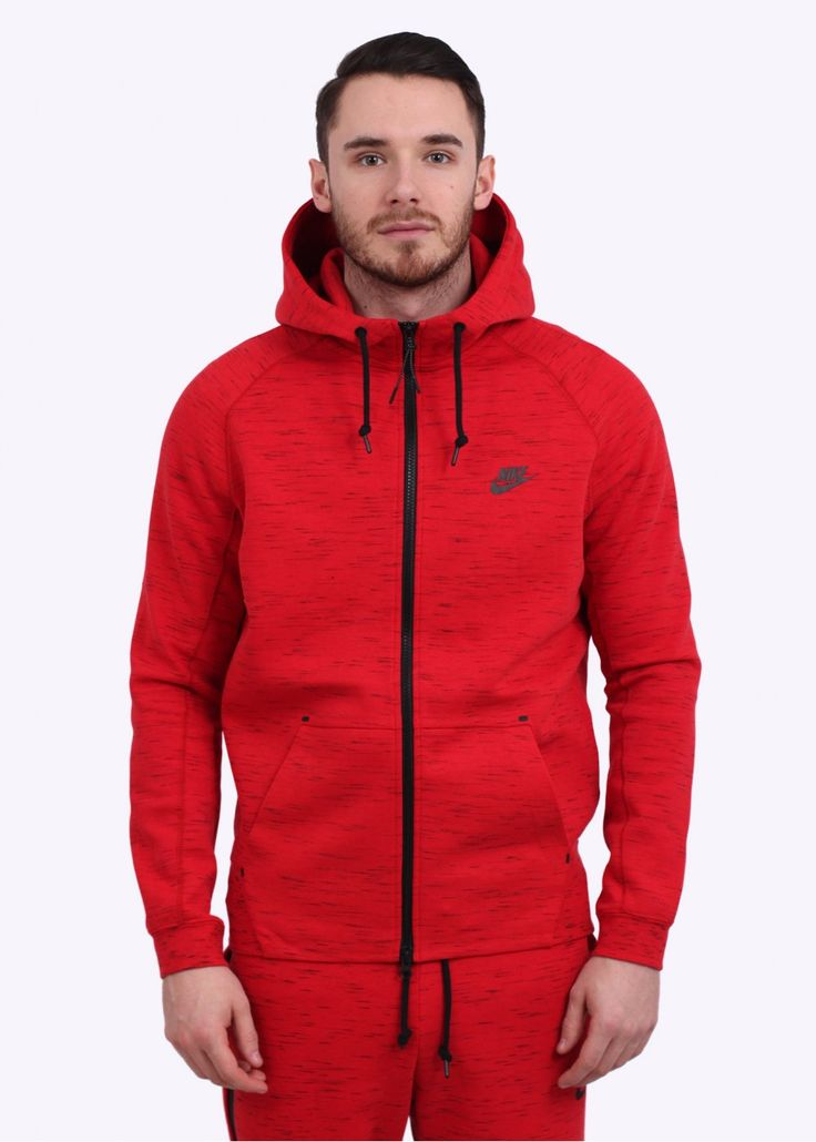 nike aw77 tech fleece hoodie red nl tijdschrift. Black Bedroom Furniture Sets. Home Design Ideas
