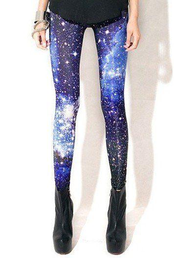 KZ-015 Fashion Woman Galaxy Leggings Space Printed Galaxy Pants Plus Size XL