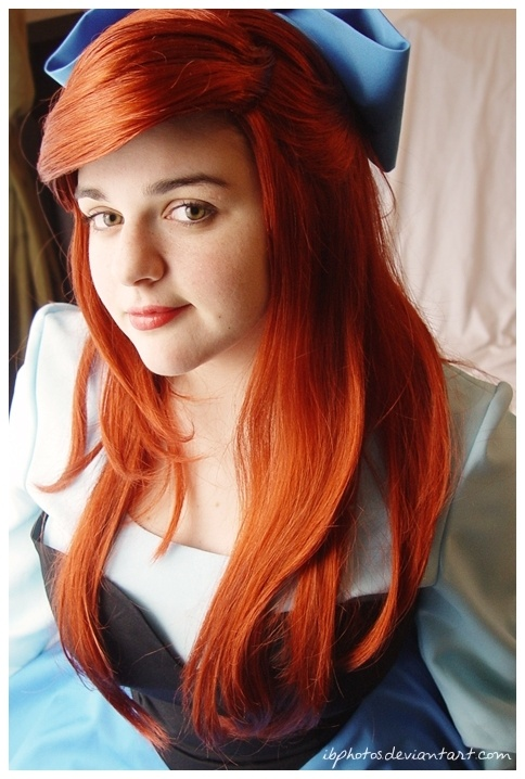 Redhead costume, Ariel with blue dress.