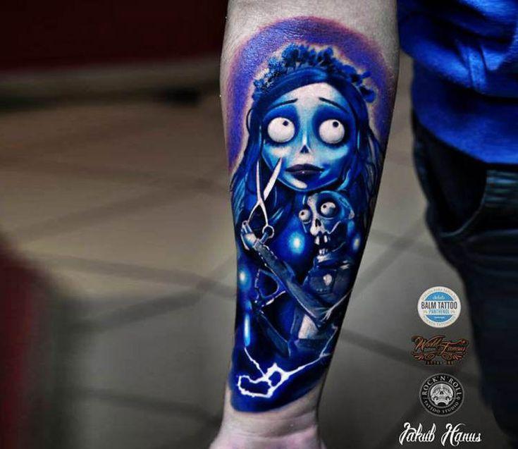 Corpse Bride tattoo by Jakub Hanus