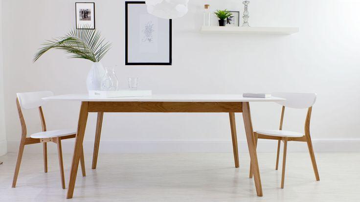 Aver Oak and White Extending Dining Table £369.00