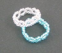 seed bead rings DIY.   To see all of the instructions, scroll down and look for…