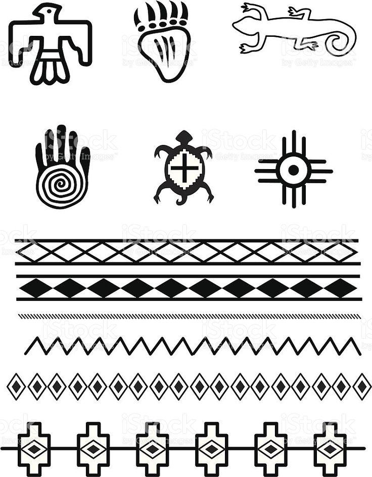 Nativos americanos símbolos illustracion libre de derechos libre de derechos