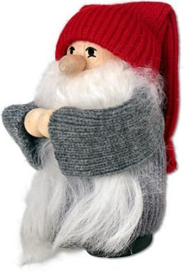 Tomte With Long White Beard- tradition said that Norway was so near to Santa's land that the hisser handled deliveries in that are so he could start his travels sooner.