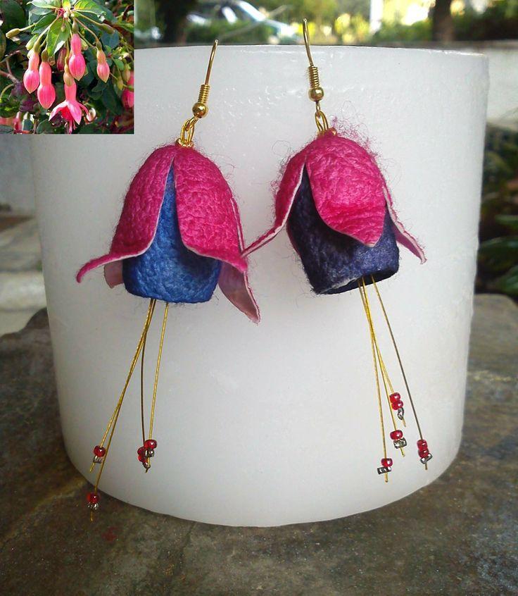 handmade cocoons jewelry - earrings - χειροποίητα κοσμήματα μετάξι κουκούλια - σκουλαρίκια No59