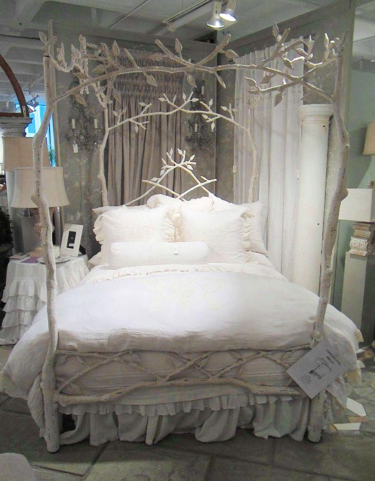 wonderful white tree bed