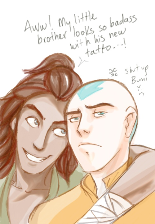 The Legend of Korra: Bumi & Tenzin...this would be so my boys.