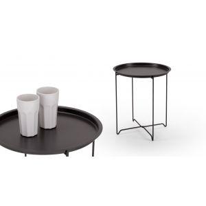 Tango Folding Tray Table in black | made.com