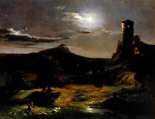 Thomas Cole - Landscape (Moonlight)