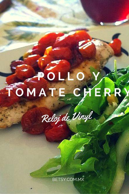 Pollo con tomate cherry y reducción de aceto balsámico