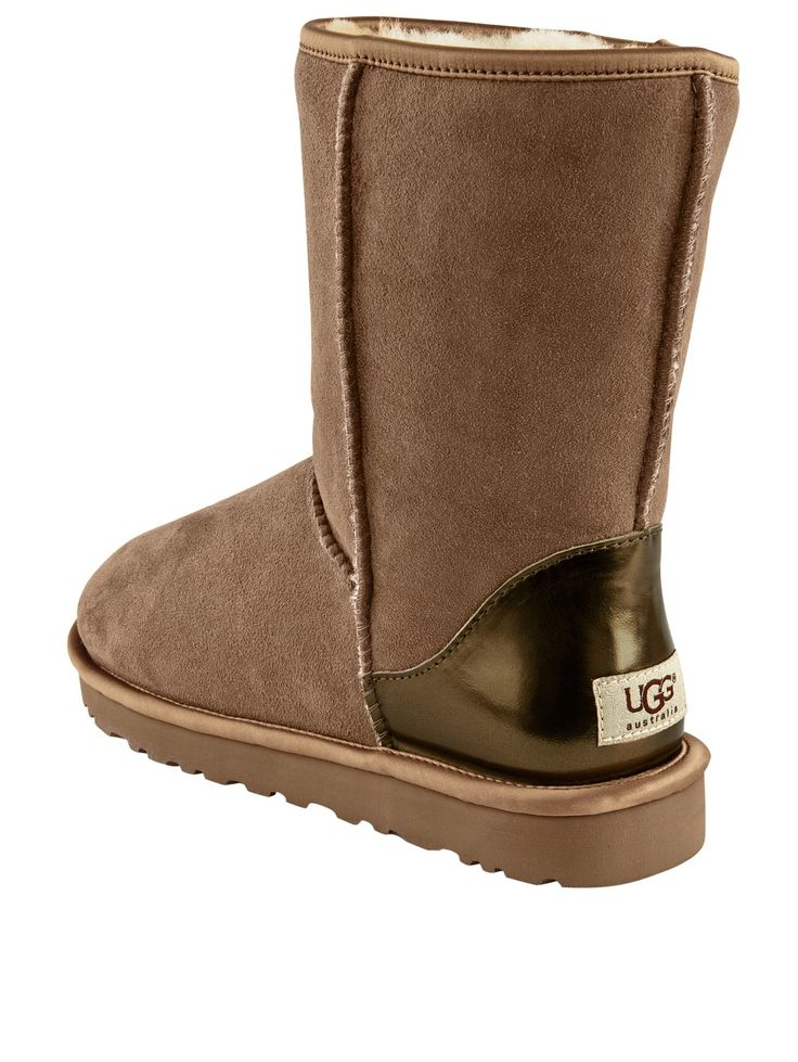 Ugg Australia Classic Short Metallic Boots | very.co.uk