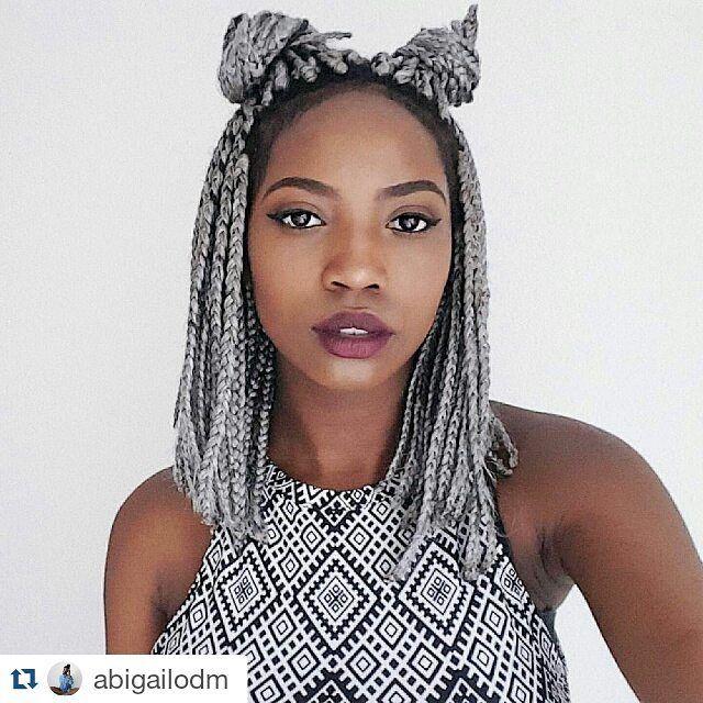 17 Best ideas about Grey Box Braids on Pinterest | Black girl braids ...