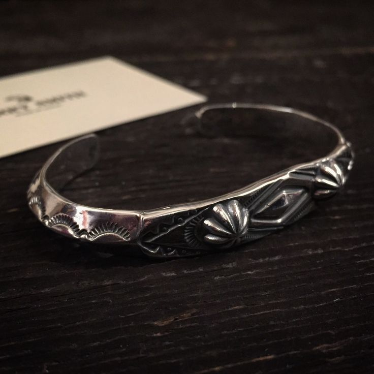 Larry Smith Silver Bangle. (made in japan, concho, craftsmanship, bracelet)