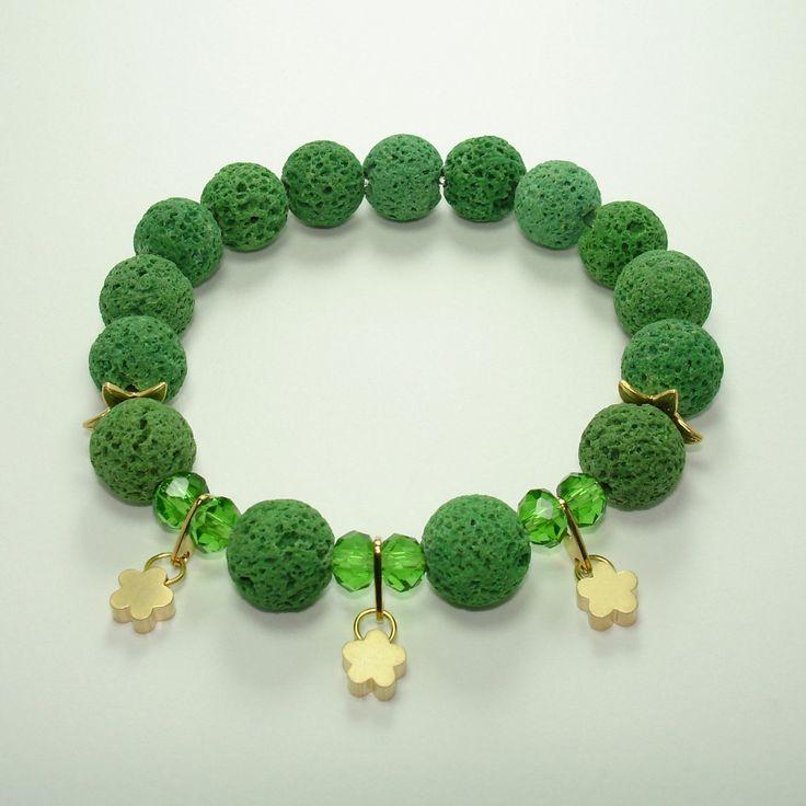 Yoga Bracelet Lava bracelet Rhodium Buddhist Bracelet Healing Bracelet Christmas Gift Volcanic Yoga Jewel Gift for herPre Teen Gift (13.95 USD) by Mainashiki