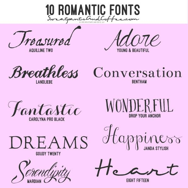 The best romantic fonts ideas on pinterest polices