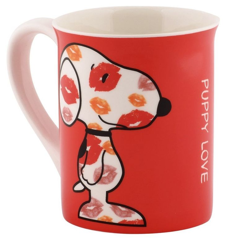 "Love these Peanuts Snoopy coffee mugs by Department 56. I think this one, called ""Puppy Love"" is my favorite but picking just one from the collection was difficult.  Which one would you pick?"