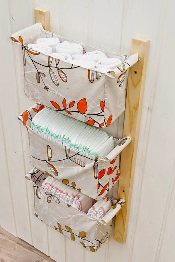 Organizacion Baño Pequeno:Hanging Wall Storage with Baskets