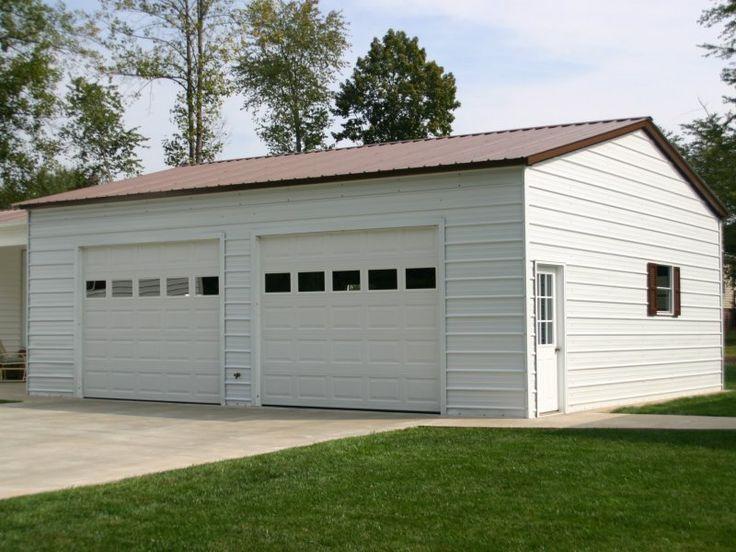 Best 24X31 Vertical Roof Side Entry Garage Garage Metal 400 x 300
