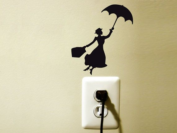 mary poppins - black velvet wall decal sticker
