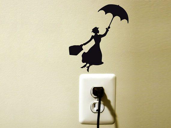 mary poppins   velvet wall decal sticker children by Mirshkastudio, $8.00
