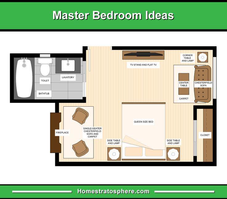 13 Master Bedroom Floor Plans Layout Drawings