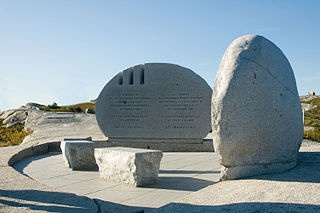The Swiss Air Disaster memorial at Peggys Cove, Nova Scotia - to commemorate the victims of the Swissair Flight 111 aircraft crash into St. Margarets Bay on September 2, 1998 - 229 perished http://www.MervEdinger.com