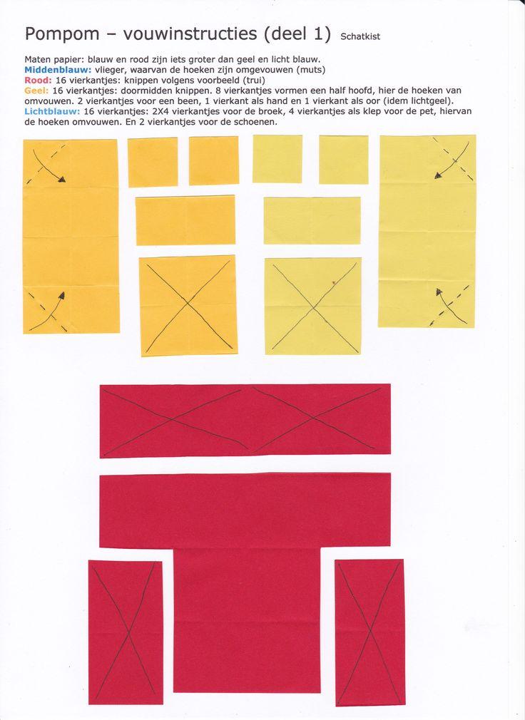 Pompom - vouwinstructies 1