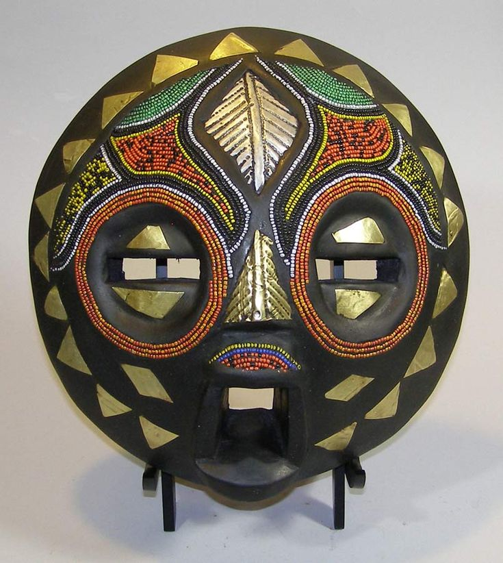 African Masks - Baluba Mask 34 - Front - Click for a more detailed view of this African Mask.