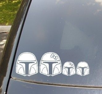 I always hated those family car stickers - until I see these Mandalorian family car sticker.  But I'd still have to get rid of the bows. Mandalorians don't wear bows.Etsy, Storms Troopers, Cars Decals, Stars Wars, Bumper Stickers, Sticks Figures, Families Cars, Cars Stickers, Car Decals