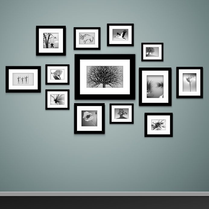 how to mount photo frames on the wall - Picture Frame Design Ideas