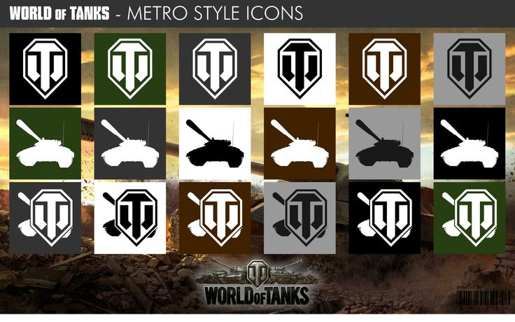 World of Tanks - Metro Style Icons by xmilek.deviantart.com on @deviantART