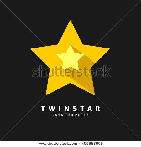Yellow Star Flat Icon. Vector.Eps.10
