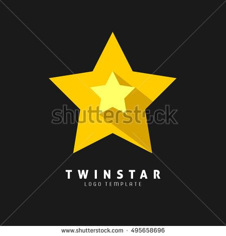 Yellow Star Flat Icon. Vector.Eps.10