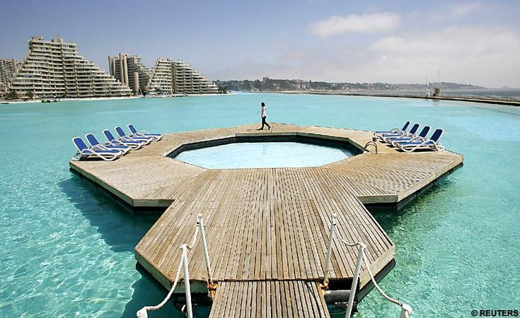 Try making a splash in the world's largest swimming pool... it's 1,000 yards long | Mail Online