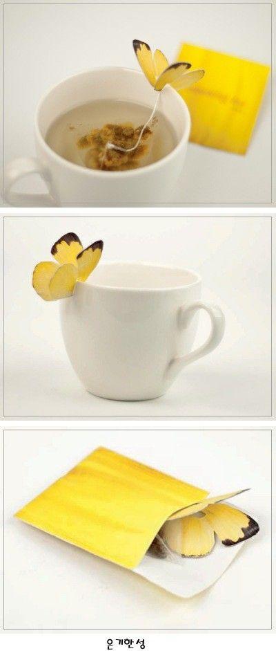 나비가 살포시 앉은 Tea Butterfly Tea Bag